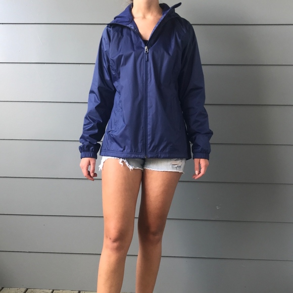 L.L. Bean Jackets & Blazers - LL Bean Navy Blue Rain Jacket XS